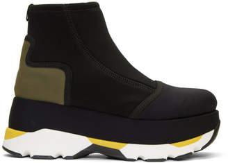 Marni Black Neoprene Flatform Boots