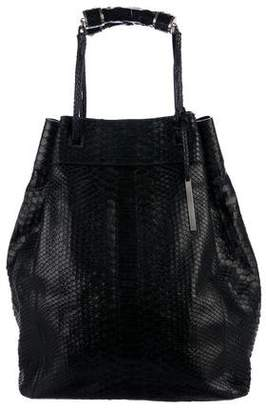 Calvin Klein Collection Snakeskin Bucket Bag