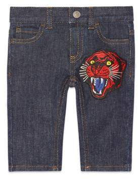 Gucci Baby denim pant with panther