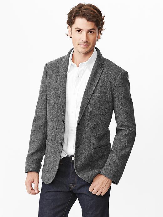 Gap Wool herringbone blazer