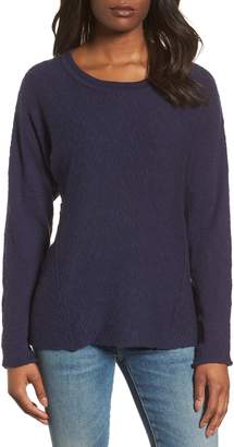 Caslon Mix Stitch Swing Cotton Sweater