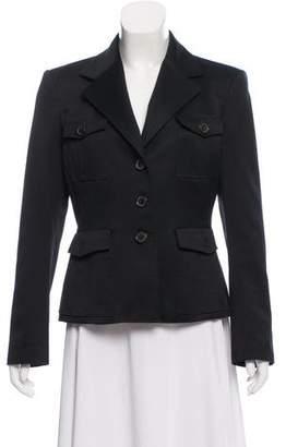 Michael Kors Button-Up Notch-Lapel Jacket