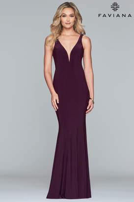 Faviana Classic Plum Gown