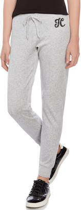 Juicy Couture Crystal Logo Velour Joggers