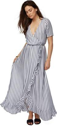 Rachel Pally Rayon Wrap Dress - Blue/ White Stripe