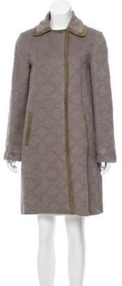 Agnona Argyle Textured Coat