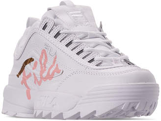 Fila Women Disruptor Ii Premium Script Casual Athletic Sneakers from Finish Line