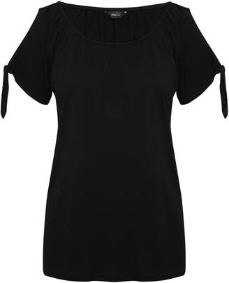 M&Co Tie sleeve peasant top