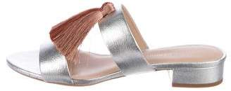 Loeffler Randall Leather Tassel-Accented Slides