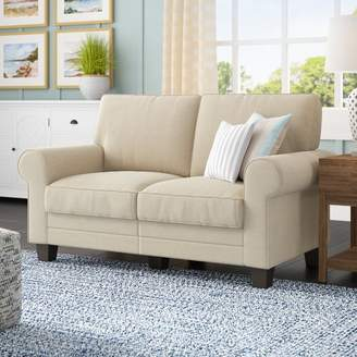 """Beachcrest Home Buxton 61"""" Rolled Arm Loveseat"""