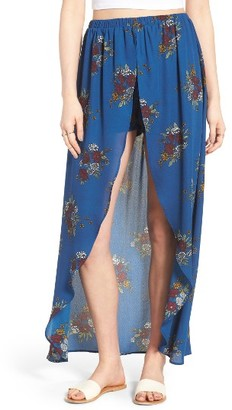 Women's Mimi Chica Floral Maxi Skort $45 thestylecure.com