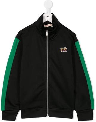 Marni (マルニ) - Marni Kids embroidered logo sports jacket