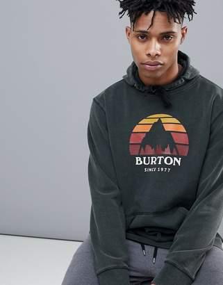 Burton Snowboards Underhill Sunset Circle Logo Hoodie In Black