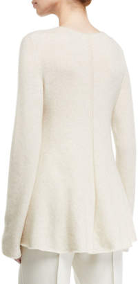 The Row Sabel Wool-Cashmere Crewneck Sweater