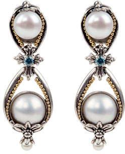 Konstantino Thalia Pearl & Blue Spinel Earrings
