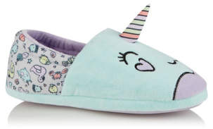 George Light Blue Narwhal Slippers