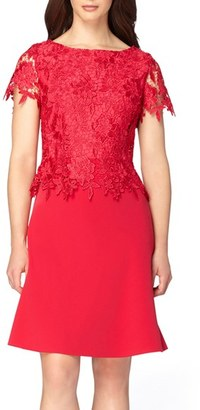 Women's Tahari Lace Popover Dress $158 thestylecure.com