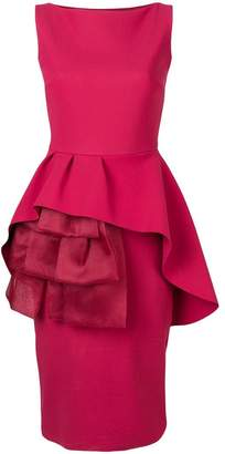 Chiara Boni Le Petite Robe Di fitted ruffled front dress