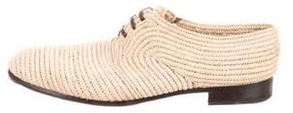 Dolce & Gabbana Basketweave Leather-Trimmed Oxfords