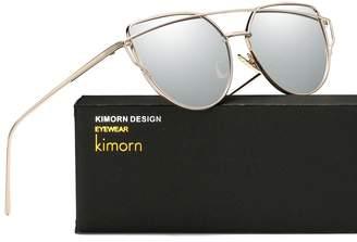Cat Eye Kimorn Sunglasses For Women Metal Nose Pads Frame Sun Glasses k0342