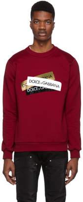 Dolce & Gabbana Red Tape Logos Sweatshirt