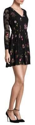 Kate Spade New York In Bloom Chiffon Mini Wrap Dress