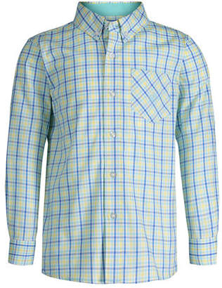 Andy & Evan Collared Plaid Shirt, Size 8-14
