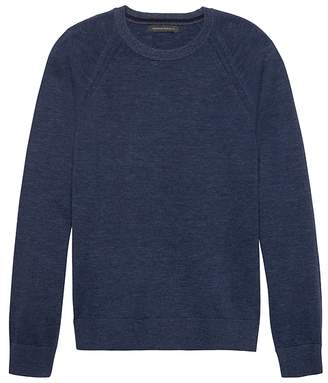 Banana Republic Heathered Cotton Crew-Neck Sweater