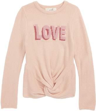 Peek Love Twisted Hem Sweater