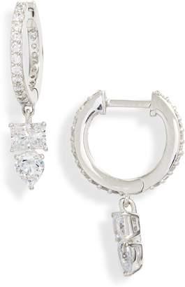 Nadri Eliza Huggie Hoop Earrings