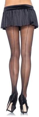 Leg Avenue Womens Sheer Cuban Heel Backseam Pantyhose