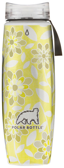 Container Store 22 oz. Ergo Polar BottleTM Yellow Flowers