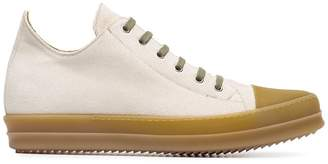 Rick Owens Beige lace up sneakers