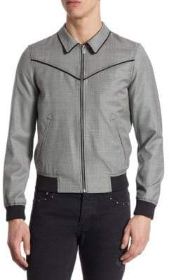 The Kooples Mixed Fabric Leather Jacket