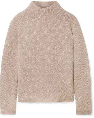 Max Mara Cashmere Turtleneck Sweater - Beige