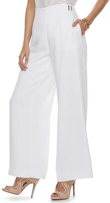 JLO by Jennifer Lopez Women's Wide-Leg Satin Dress Pants