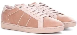 Saint Laurent SL/01 velvet sneakers