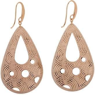 Bronzo Italia Diamond-Cut Pear-Shaped Dangle Earrings