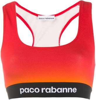 Paco Rabanne cropped colour-block top
