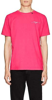 Off-White Men's Logo Cotton T-Shirt - Pink