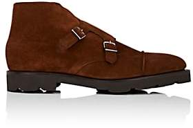 John Lobb Men's William II Double-Monk-Strap Boots-Brown