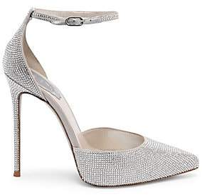 Rene Caovilla Women's Crystal Point Toe Stilettos