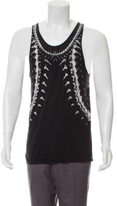 Skingraft Abstract Print Silk Tank