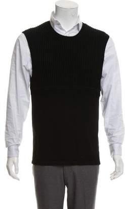 Neil Barrett Rib knit Crew Neck Sweater Vest