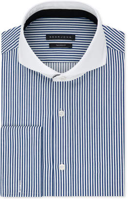 Sean John Men's Classic/Regular Fit Performance Stretch Stripe French Cuff Dress Shirt