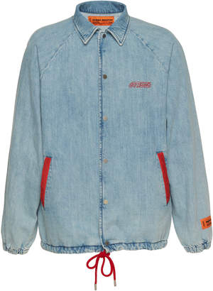 Heron Preston Denim Coach's Jacket