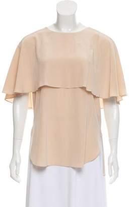 Tibi Silk Draped Blouse