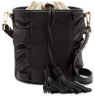 Milly Astor Ruffle Drawstring Bucket Bag
