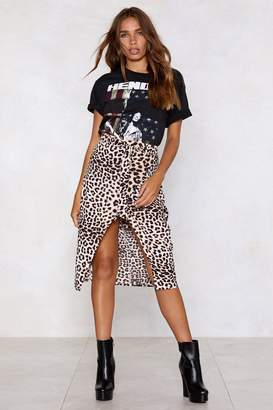 Nasty Gal Check Meowt Leopard Skirt