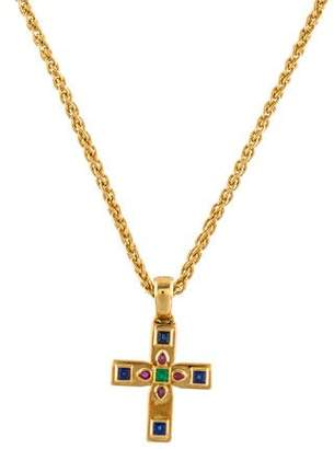 Cartier Byzantine Cross Pendant Necklace